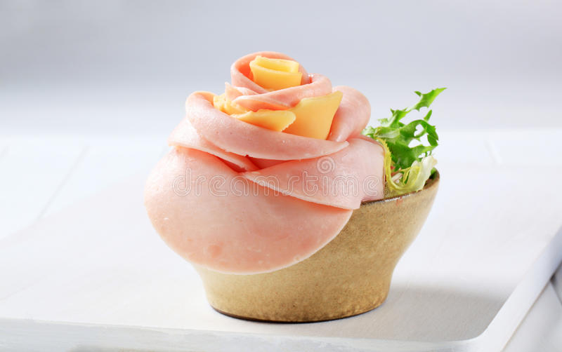 De ham en de kaas namen toe stock foto
