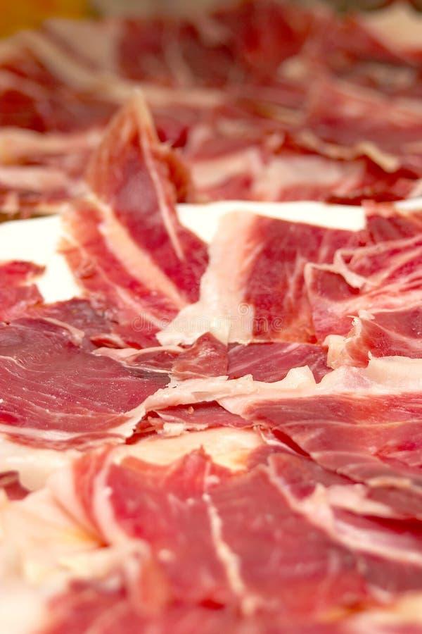 De ham van het Iberische varken stock foto