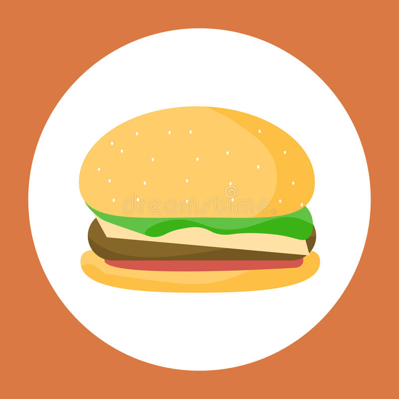De Hamburger van de kip royalty-vrije illustratie