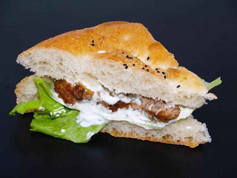 De hamburger van Pitta royalty-vrije stock fotografie