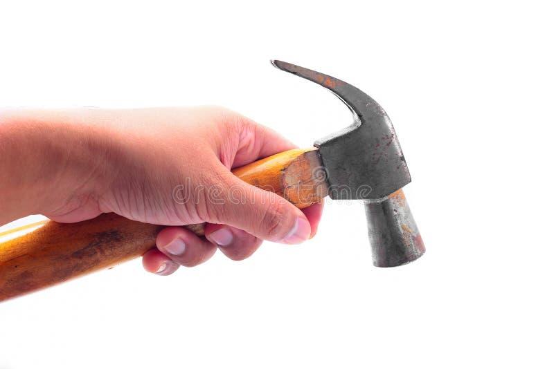 De hamer van de handholding stock foto's