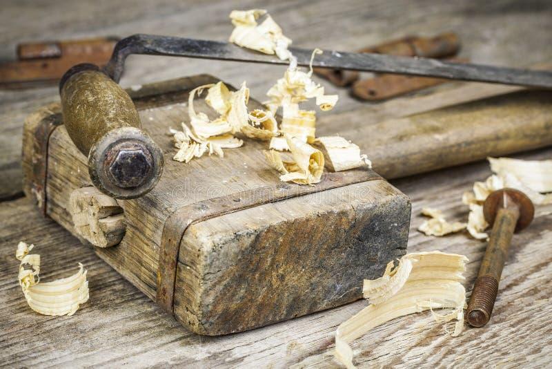 De hamer van de oude timmerman stock afbeelding
