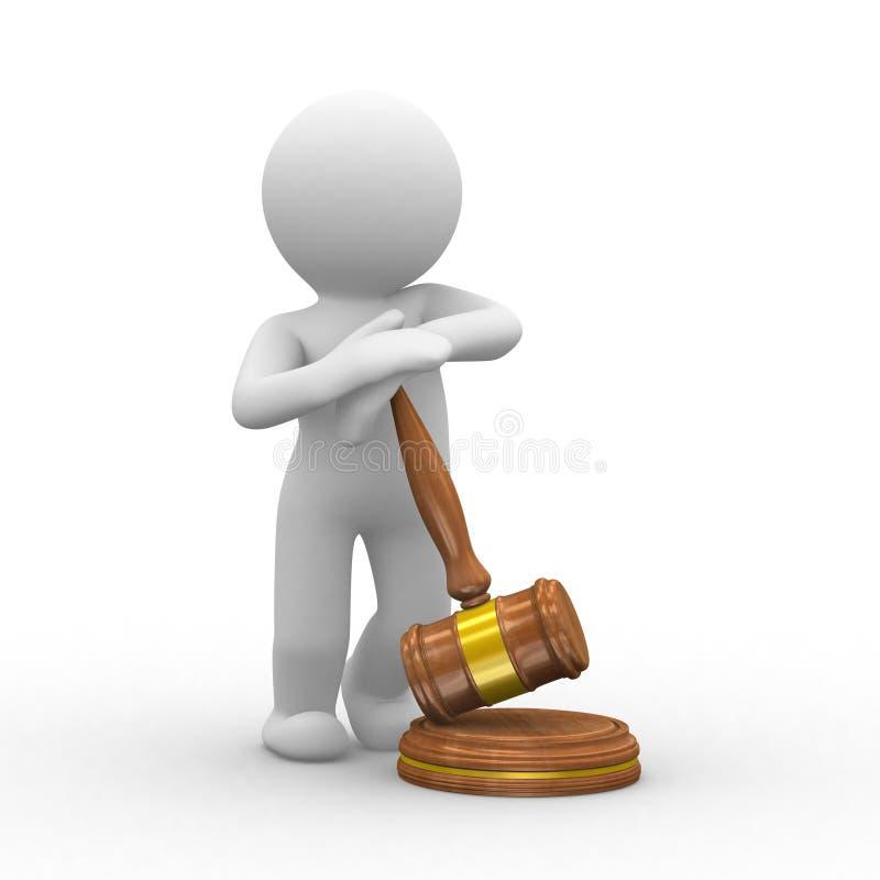 De hamer van de rechtvaardigheid stock illustratie