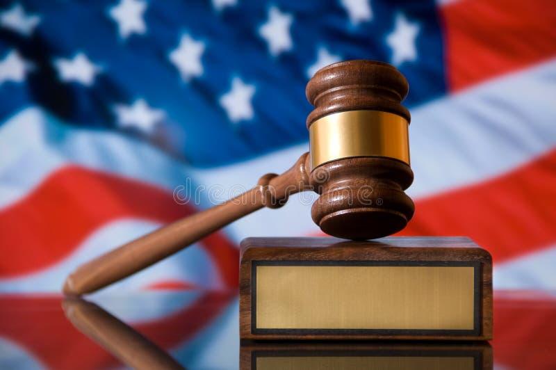 De Hamer van de rechtvaardigheid royalty-vrije stock afbeeldingen