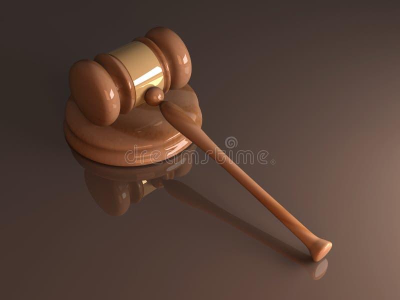 De Hamer van het Hof royalty-vrije illustratie