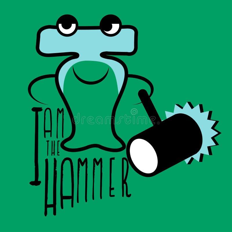 De hammerheadhaai royalty-vrije illustratie
