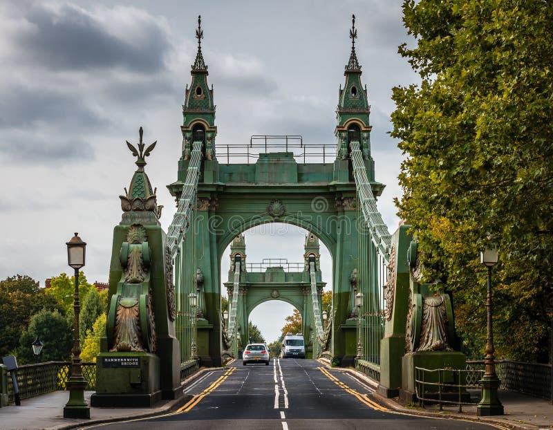 De Hammersmith-brug royalty-vrije stock afbeeldingen