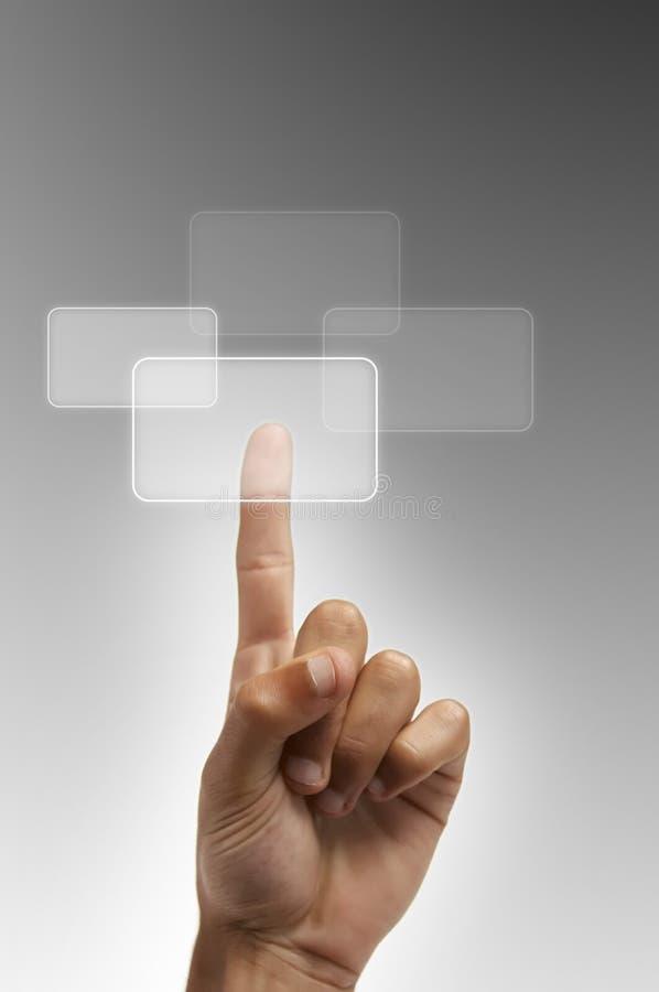De hand drukt de knoop stock foto's