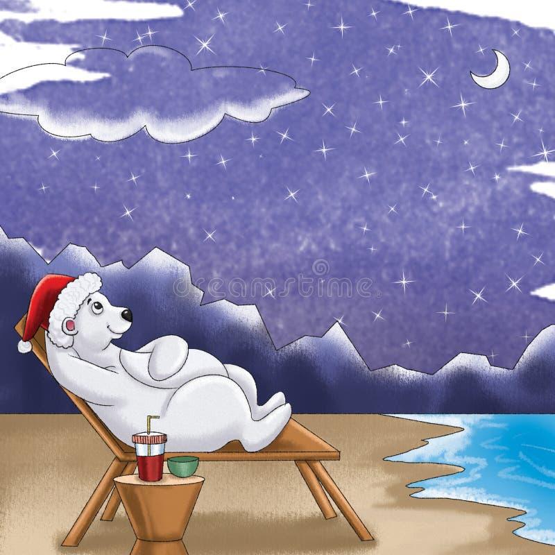 De hand getrokken Kaart van de Kerstmisgift stock foto's