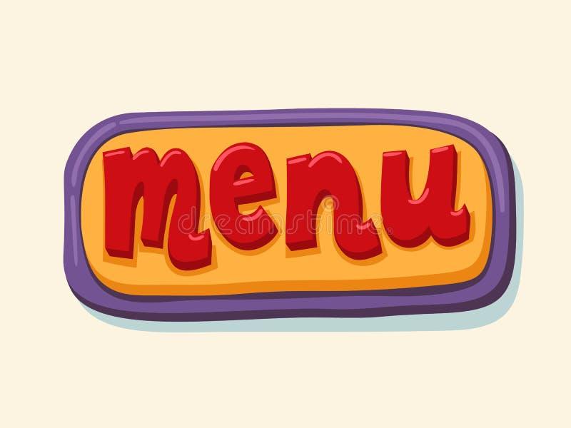 De hand getrokken knoop van het menuweb Internet-knoop stock illustratie
