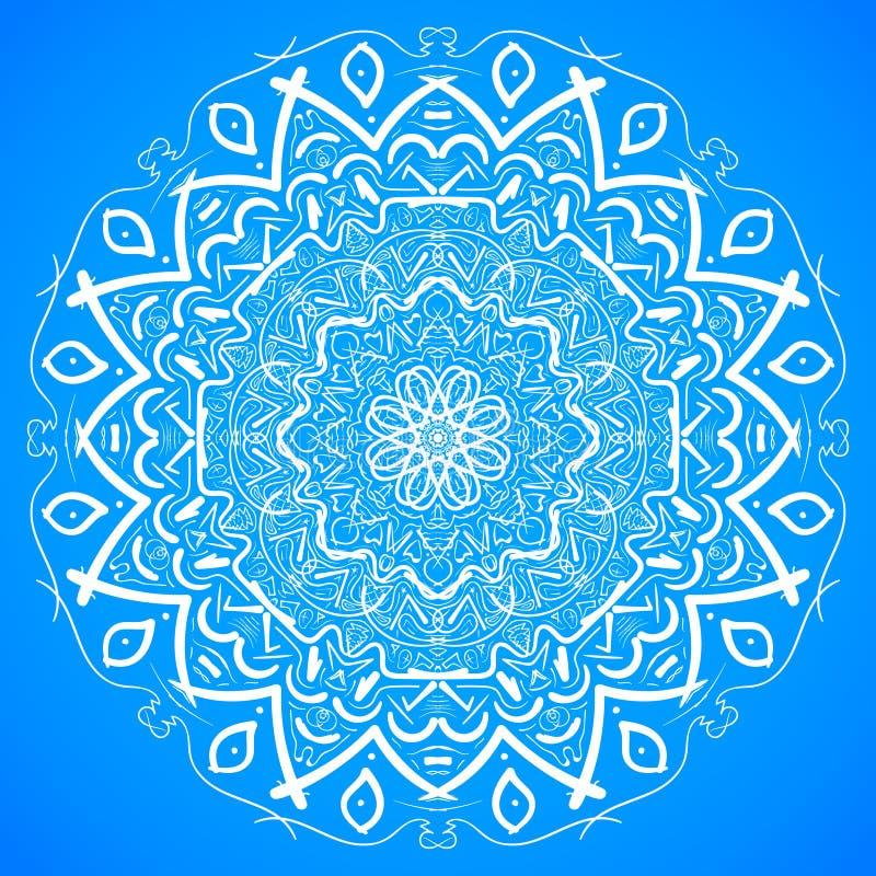 De hand Getrokken vectorachtergrond van Mandala Ornament Sketch Mockup royalty-vrije illustratie