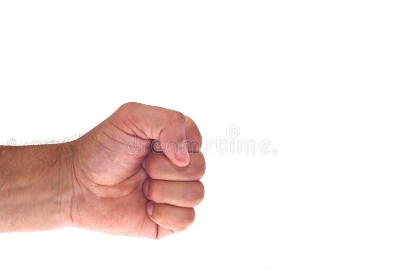 De Hand Met Klemde Een Vuist Dicht Stock Afbeelding