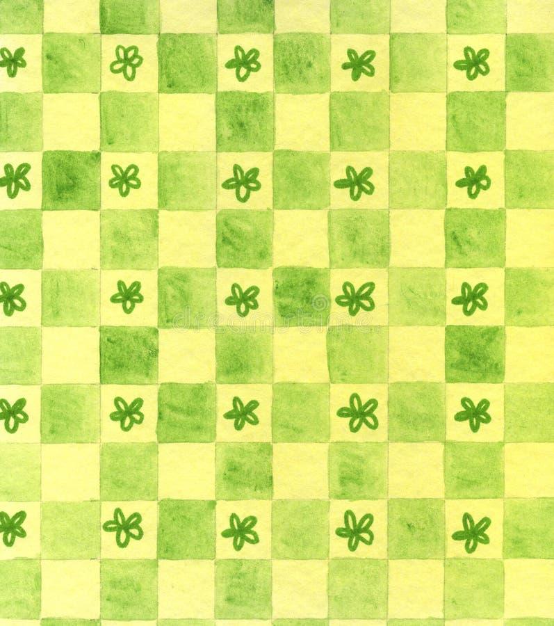 De hand schilderde groene achtergrond royalty-vrije illustratie