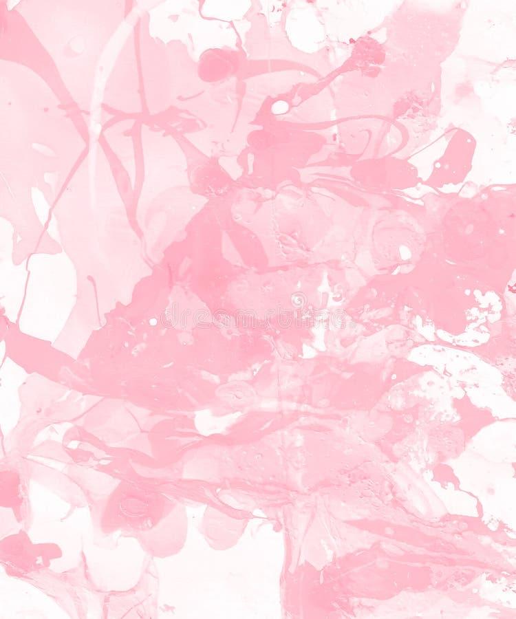 De hand schilderde lichtrose abstracte achtergrond stock illustratie