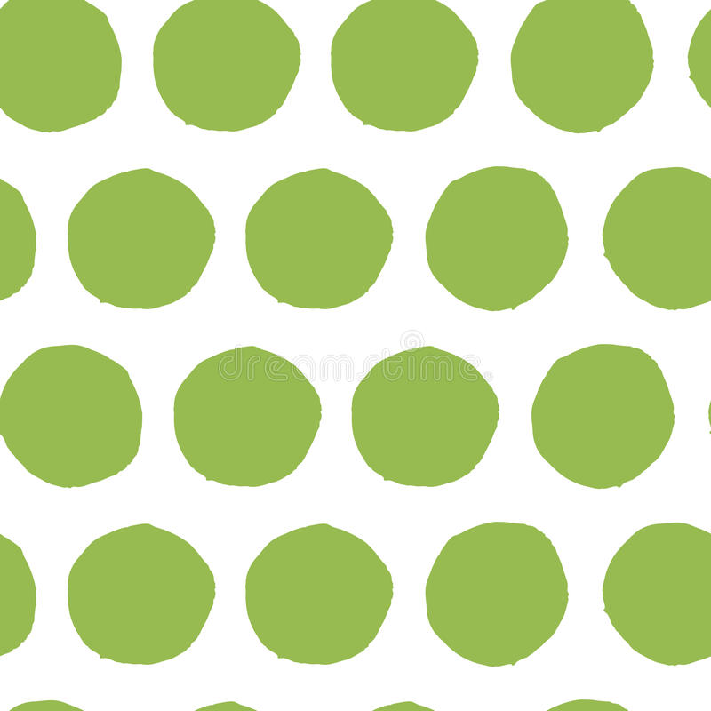 De hand schilderde naadloos stippatroon Abstracte groene verse organische achtergrond stock illustratie