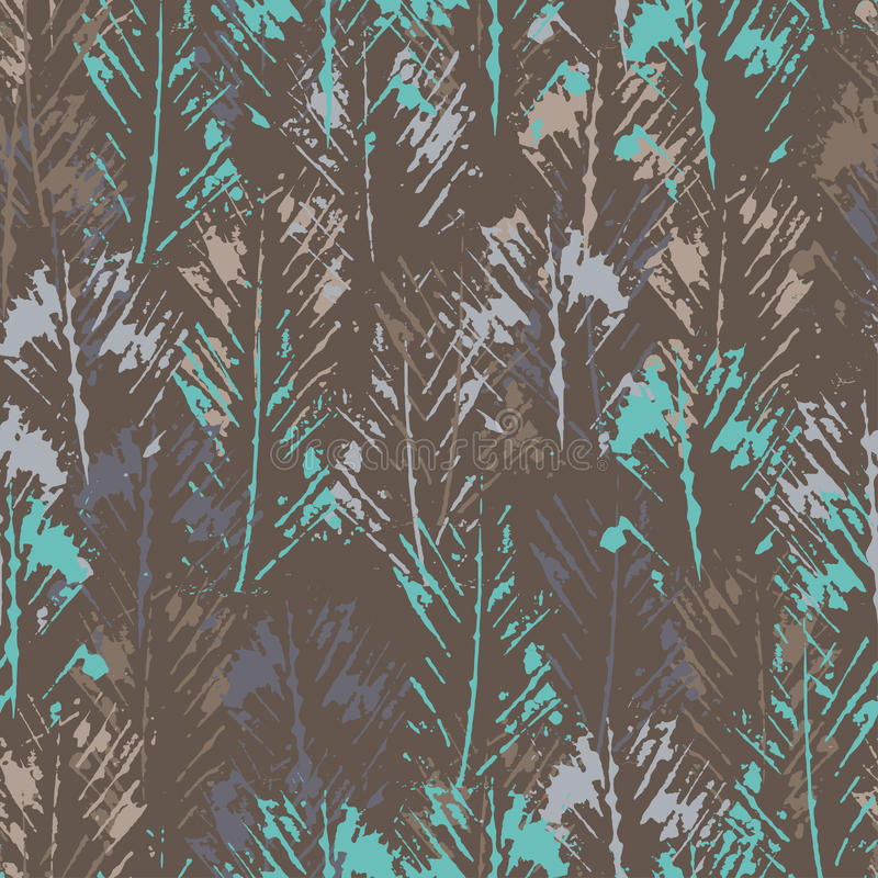 De hand stempelde geweven abstract naadloos patroon vector illustratie