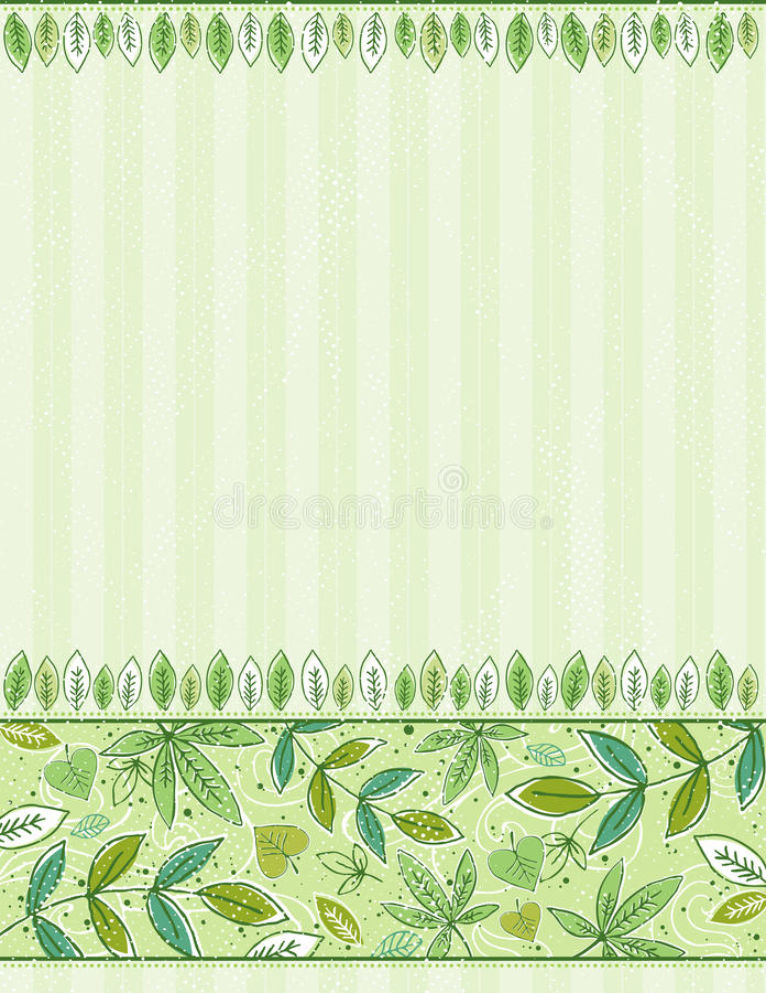 De hand trekt doorbladert op groene achtergrond royalty-vrije illustratie