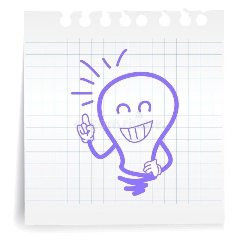 Groot idee op document Nota stock illustratie