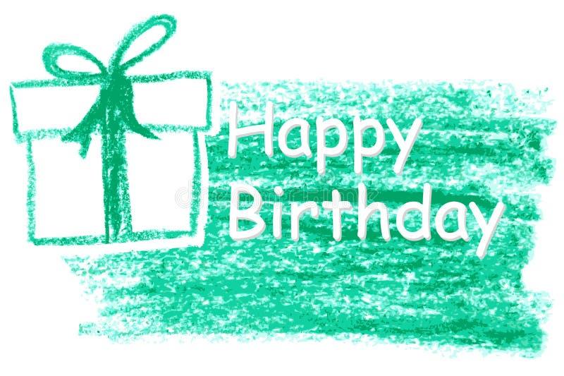 De hand trekt Schets van de Kaart van de Verjaardagsgroet stock illustratie