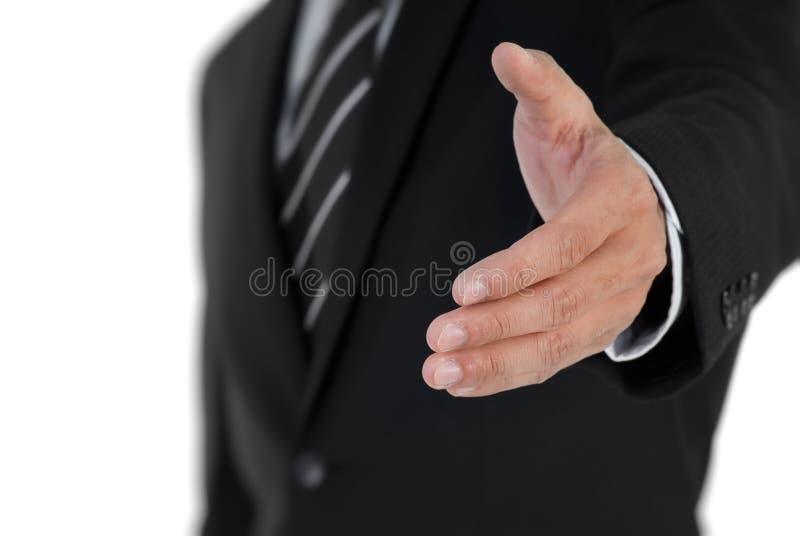 De hand van de bedrijfsmensenschok stock fotografie