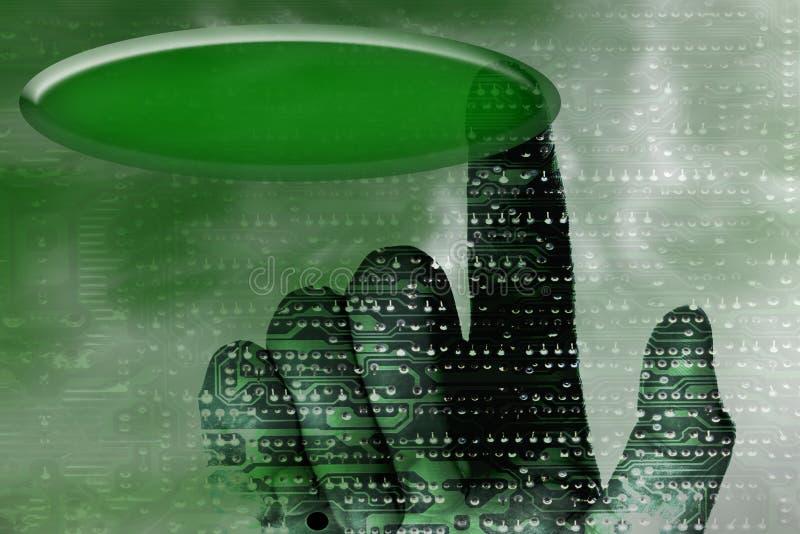 De hand van de cybernetica royalty-vrije illustratie