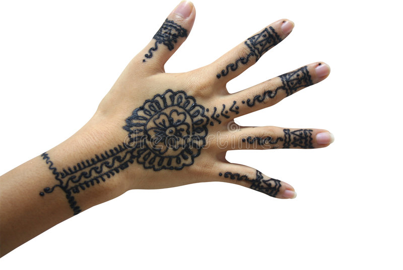 De hand van de henna royalty-vrije stock foto's
