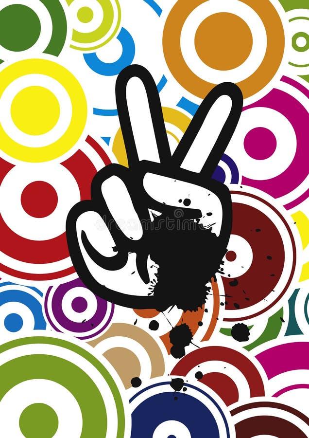 De Hand van de hippie, vector stock illustratie