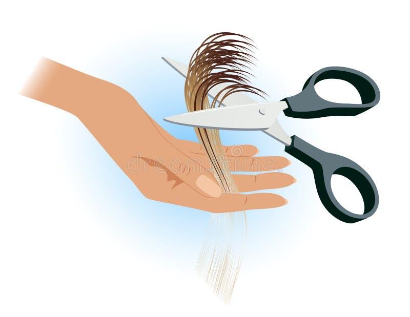 De hand van de kapper royalty-vrije illustratie