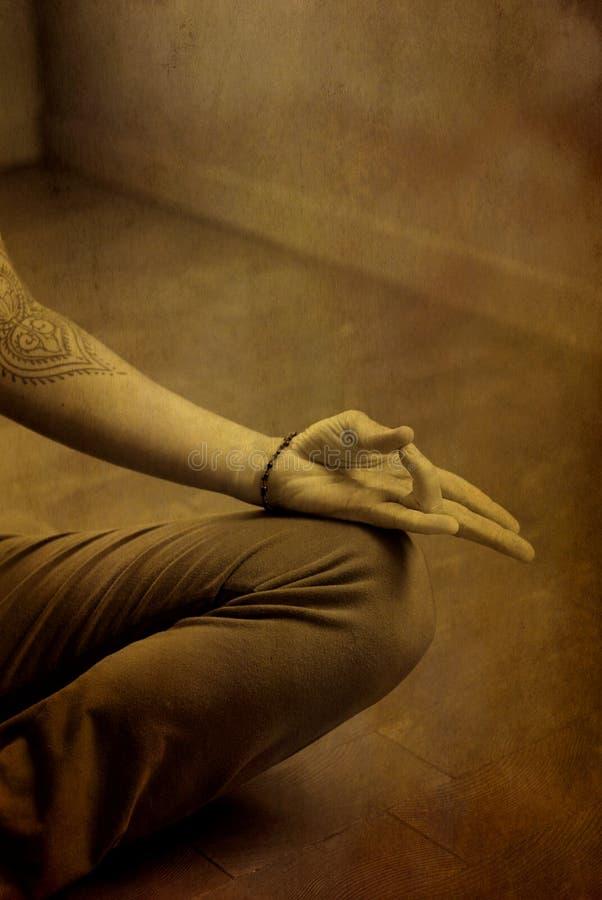 De Hand van de meditatie stock foto's