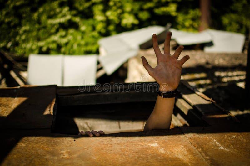 De hand van de mens stock fotografie
