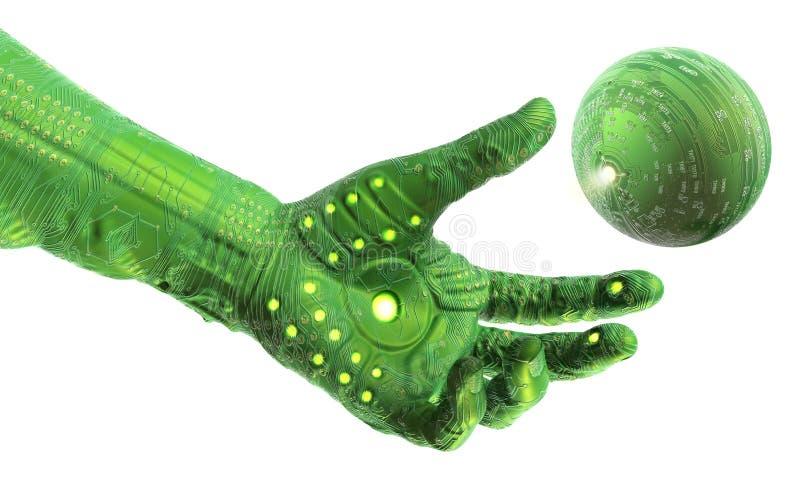 De Hand van de Technologie van Cyber royalty-vrije illustratie