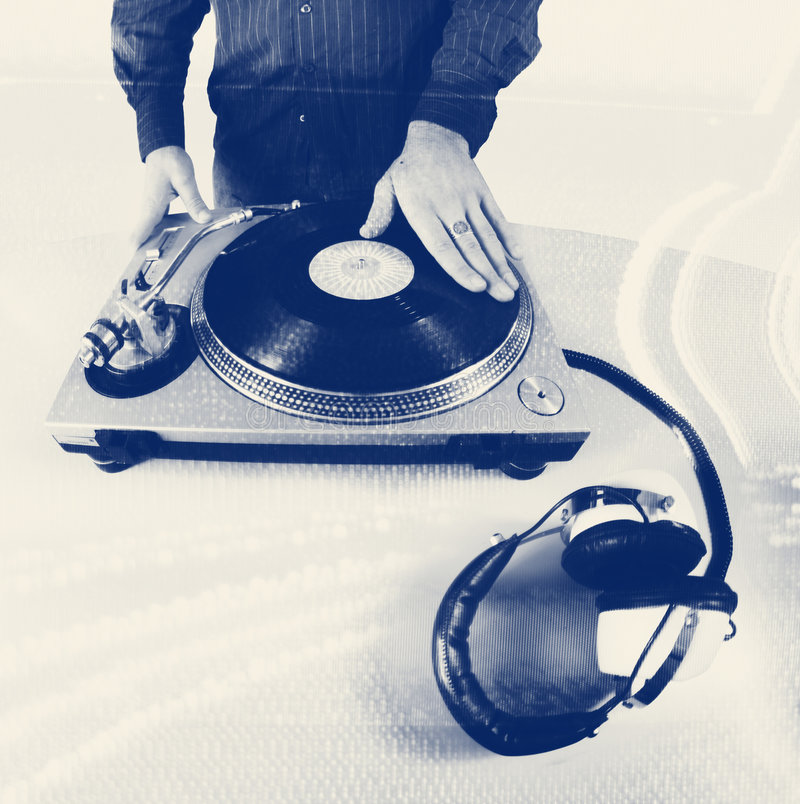 De hand van DJ stock fotografie