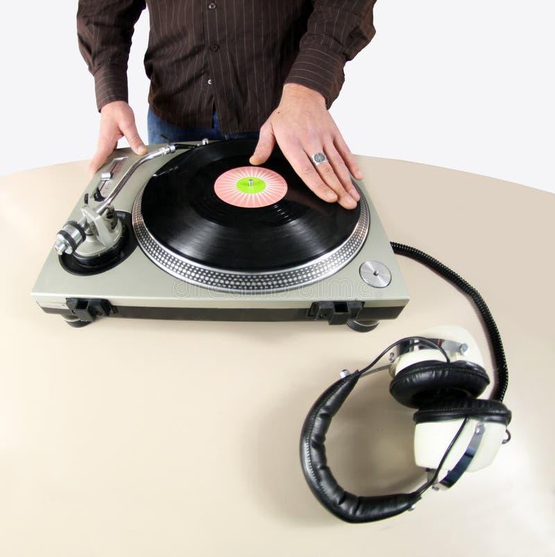 De hand van DJ royalty-vrije stock foto