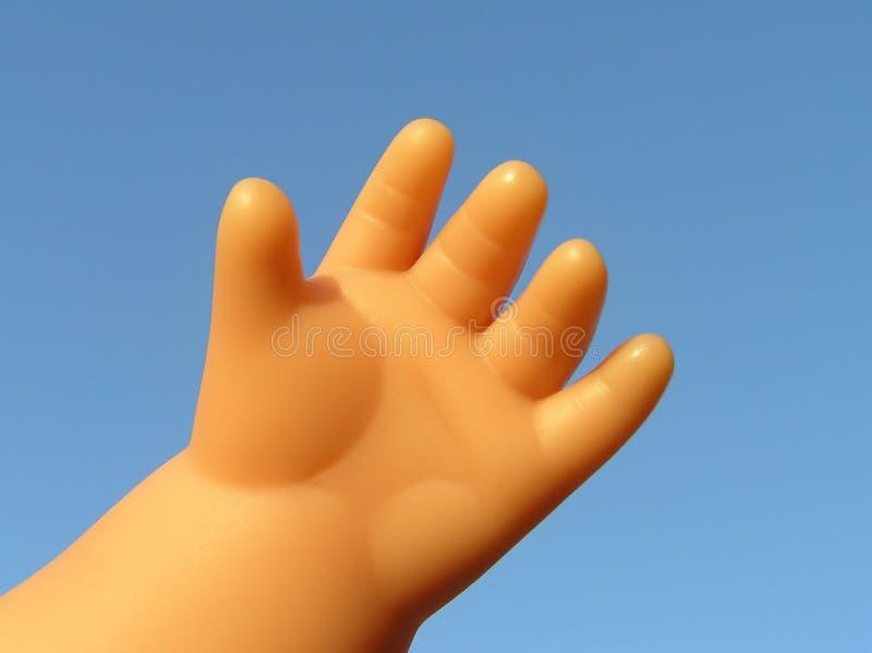 De hand van Doll royalty-vrije stock afbeelding