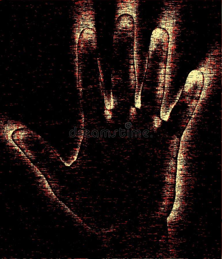 De hand van Grunge royalty-vrije illustratie