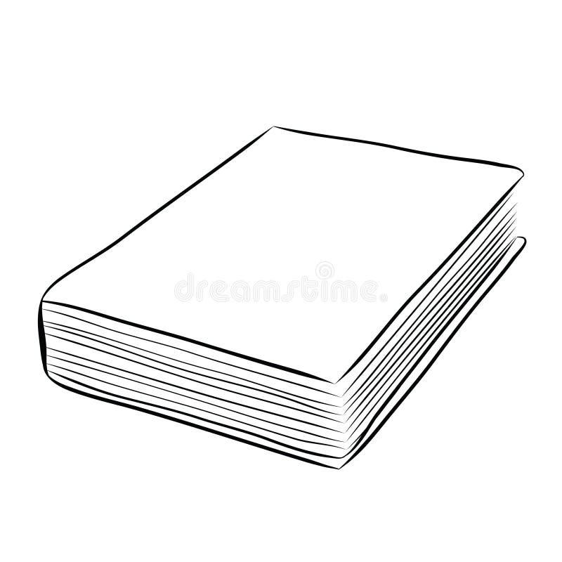 De hand van het dekkingsboek trekt vector illustratie