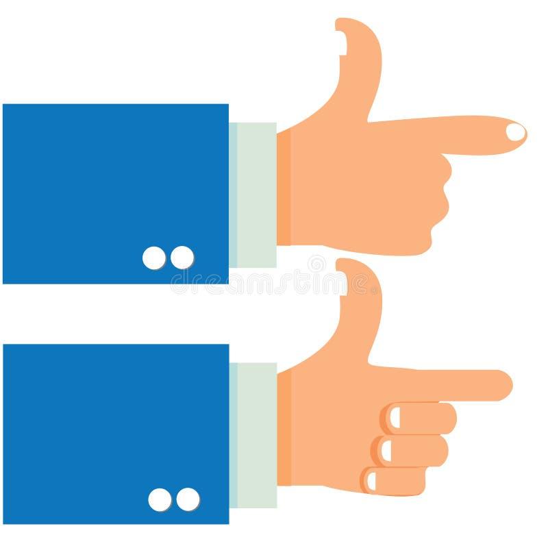 De Hand van het spruitgebaar vector illustratie
