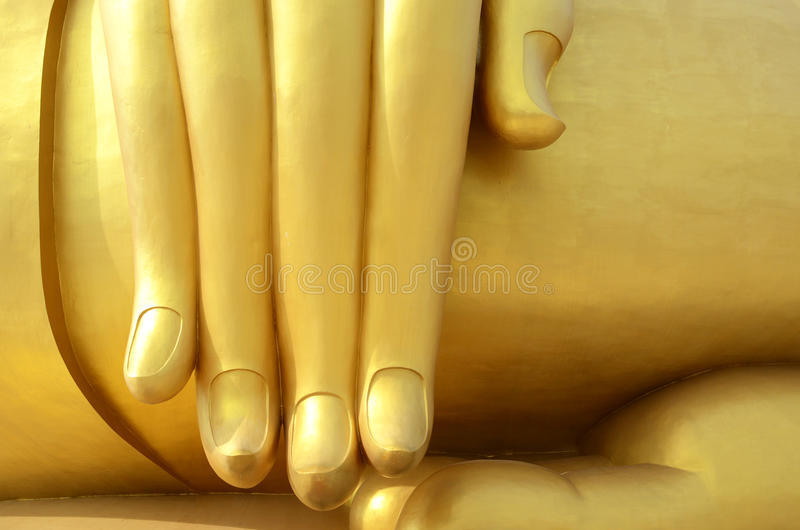 De hand van het standbeeld van Boedha stock afbeeldingen