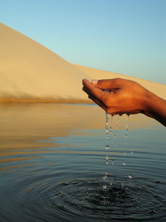 De hand van het water stock foto's