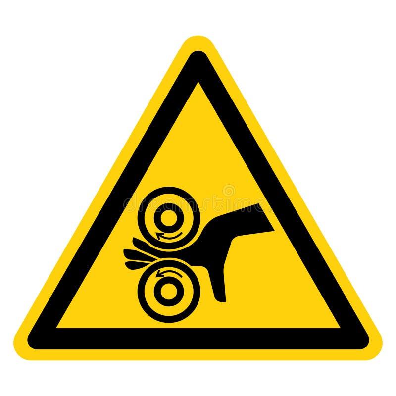 De hand verwart Linkersymboolteken, Vectorillustratie, isoleert op Wit Etiket Als achtergrond EPS10 stock illustratie