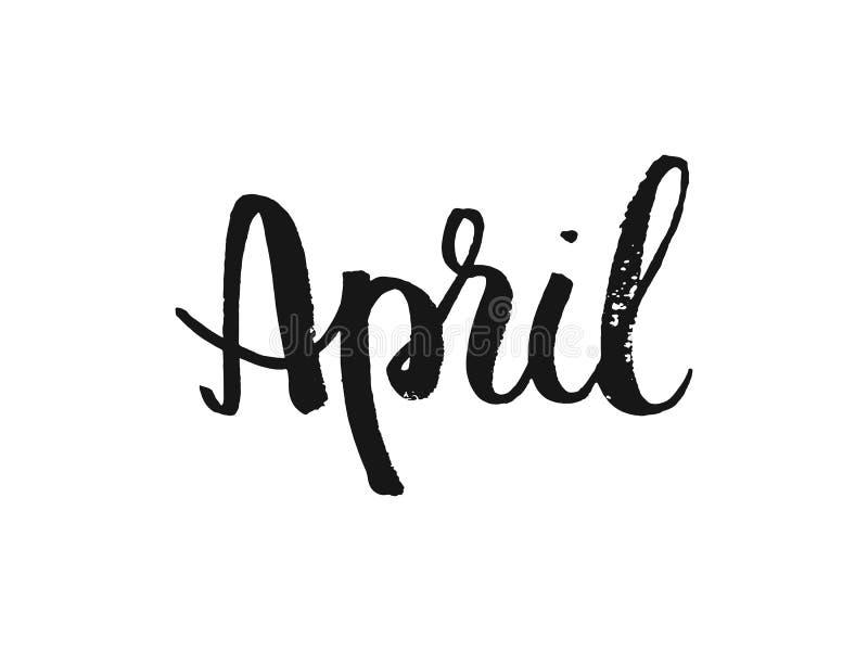Download De Hand Voorzag Inspirational Teksten April Van Letters Hand Het Geborstelde Inkt Van Letters Voorzien