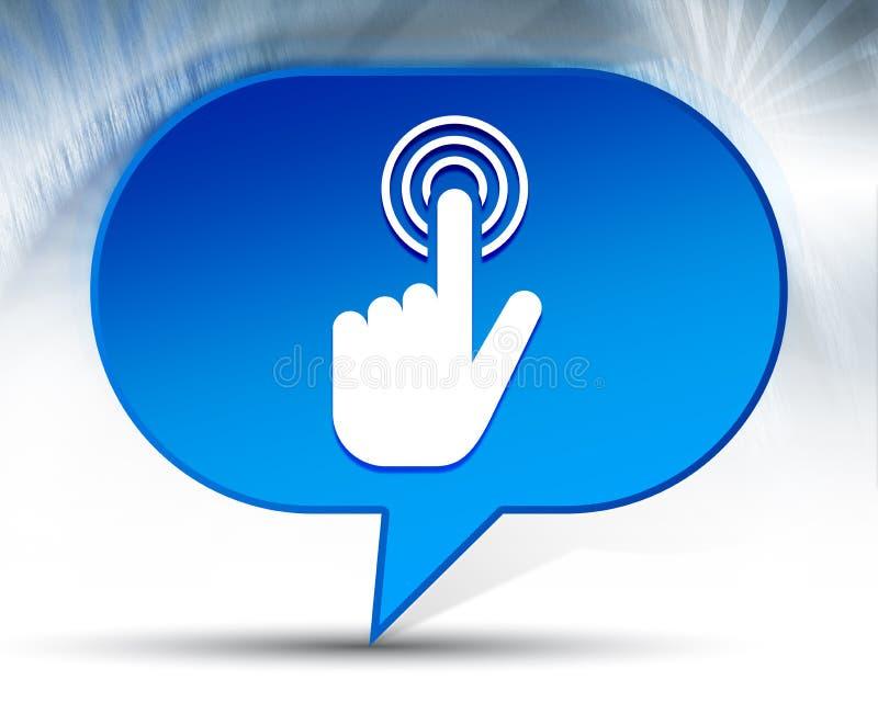 De handcurseur klikt achtergrond van de pictogram de blauwe bel stock illustratie