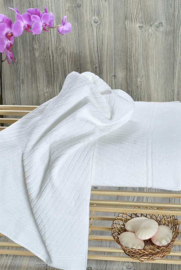 De handdoek sunbed  stock foto's