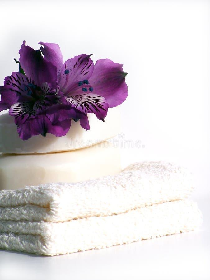 De handdoeken van het kuuroord. stock afbeeldingen