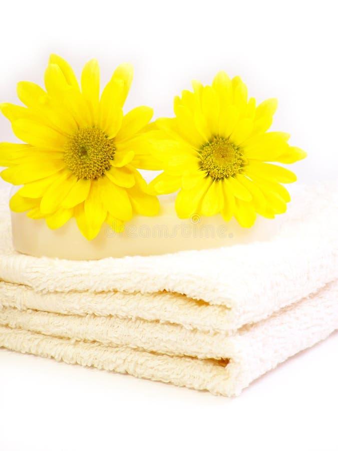 De handdoeken van het kuuroord. stock foto's