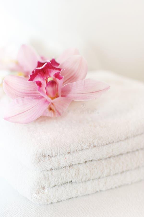 De handdoeken van het wit stock foto's