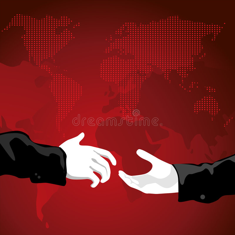 De Handdruk van de wereld royalty-vrije illustratie