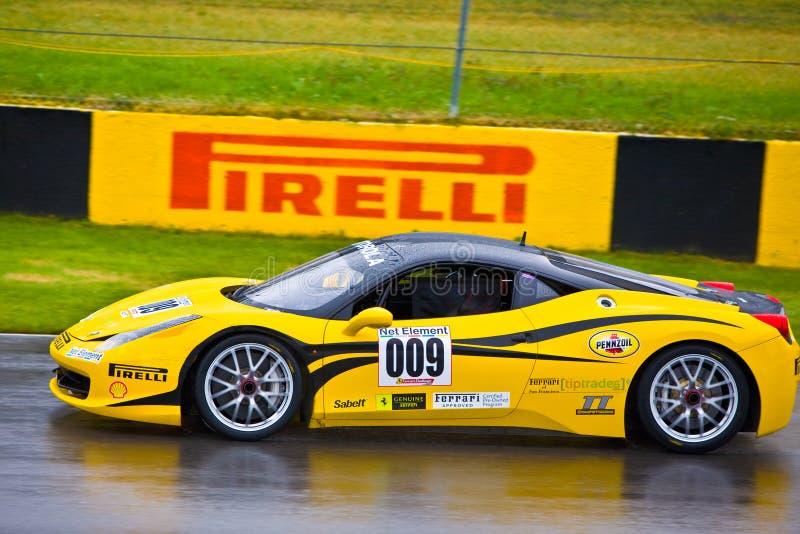 De handel Ferrari die van het uiteinde bij de Grand Prix van Montreal rennen stock afbeeldingen