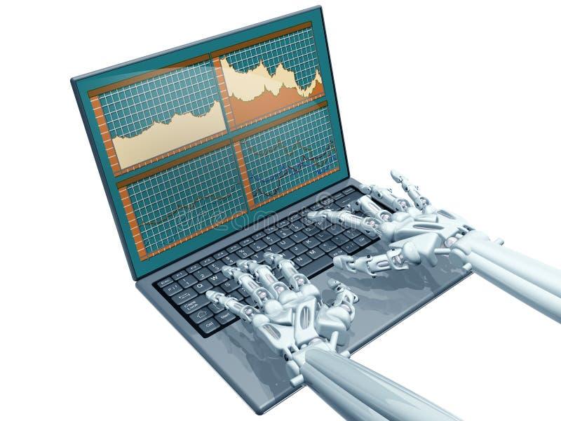 De handel van de robot stock illustratie