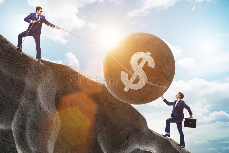 De handelaar die in Amerikaanse dollar handel drijven royalty-vrije stock afbeeldingen